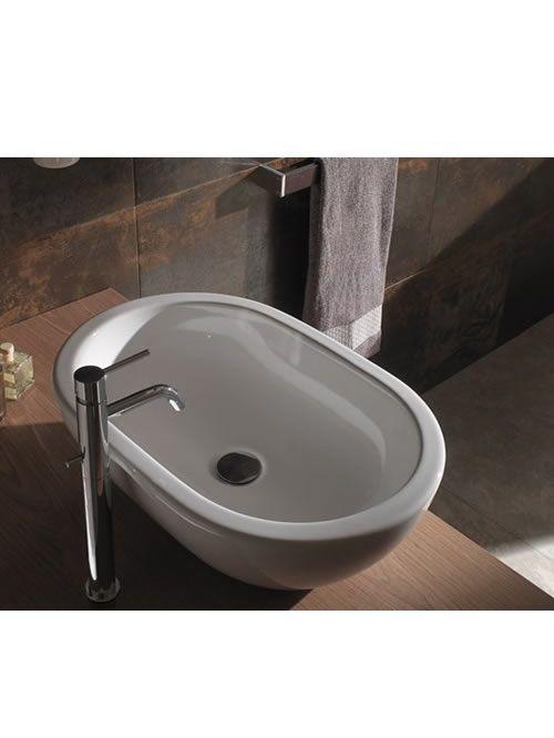 Bowl lavabo da appoggio 60 sc012 bi acquablu arredamento for Lavabo da appoggio