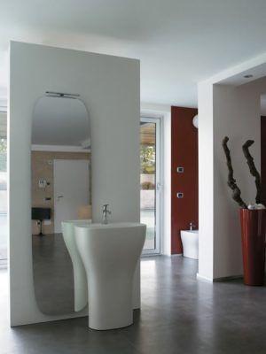 Genesis Lavabo monolito scarico a parete