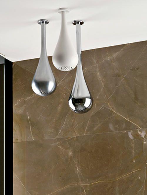 Goccia soffione doccia da soffitto 33751 031 acquablu arredamento bagno - Soffione doccia da incasso ...