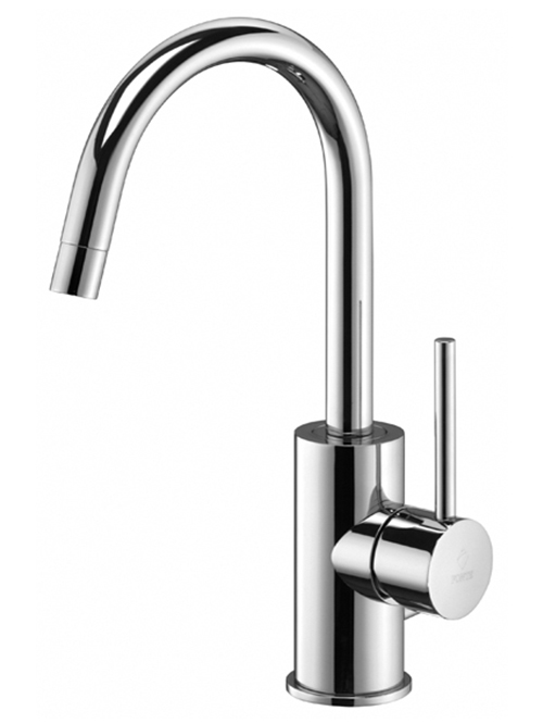 Light miscelatore lavabo canna curva