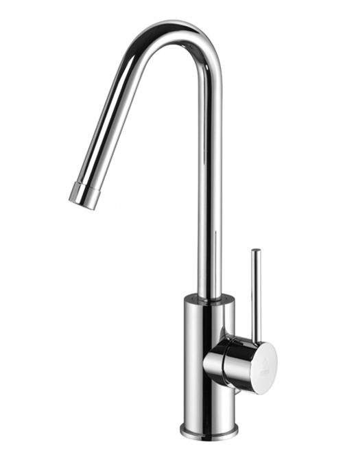 Light miscelatore lavabo canna curva 20
