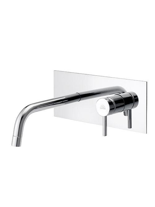 Light miscelatore lavabo parete