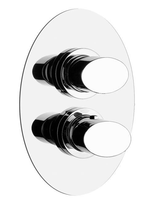 Ovale miscelatore termostatico due uscite