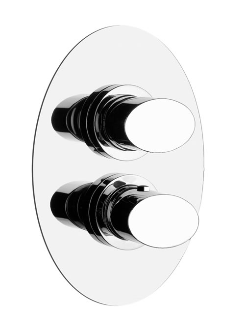 Ovale miscelatore termostatico parete una uscita