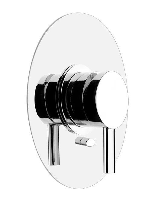 ovale miscelatore parete doccia due uscite