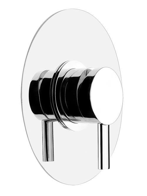 ovale miscelatore parete doccia una uscita