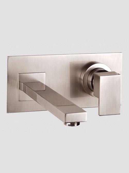 rettangolo miscelatore lavabo parete