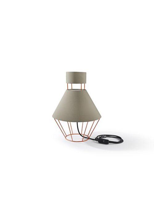LAMPADA coll. Balloon mm Ø 300xh.445 - IT - arancio traffico/ tortora