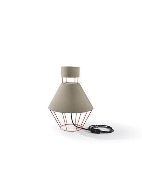 LAMPADA coll. Balloon mm Ø 300xh.445 – IT – arancio traffico/ tortora