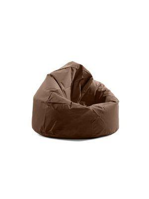 """""""Pouf in tessuto 600 den, ideale sia da interno che da esterno riparato, morbido, con un design moderno. Colore coffee. Misure diametro 90 x H 110 cm. Imbottitura inclusa """""""