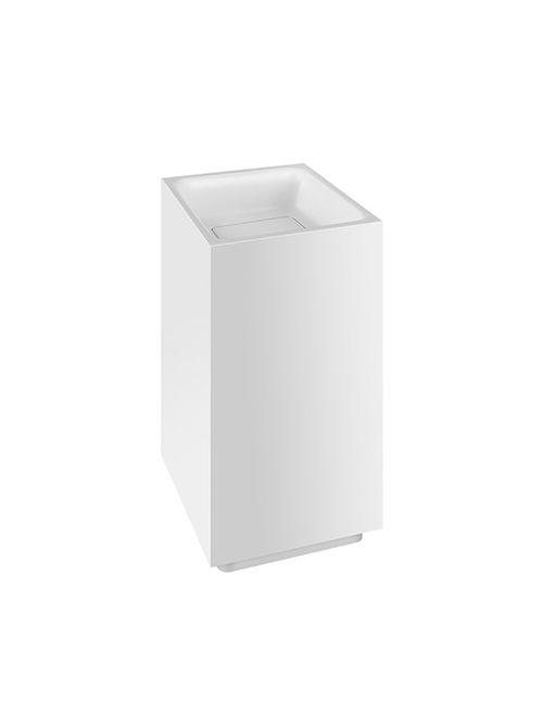 Rettangolo lavabo freestanding scarico a parete