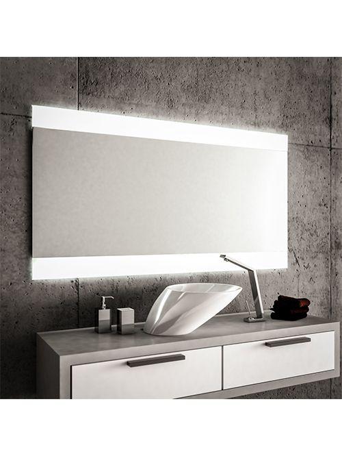 Specchio 2 fasce satinate retroilluminate led 120 x 70