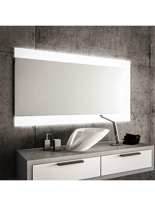 Specchio Bagno 60 X 60.Specchio 2 Fasce Satinate Retroilluminate Led 1003 A 80 X 60 1003
