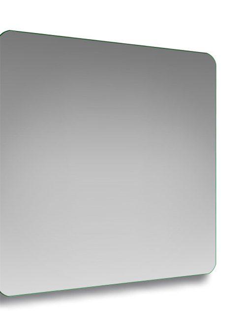 Specchio con angoli stondati quadrato 100 x 100
