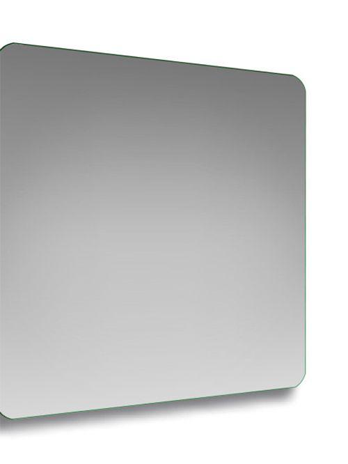 Specchio con angoli stondati quadrato 80 x 80